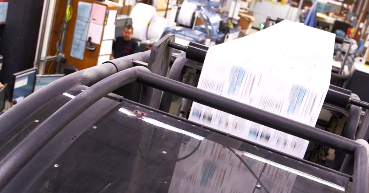 Ultimate TechnoGraphics - Documation Relies on Ultimate Impostrip® for Thousands of On Demand Print Jobs Everyday - Hunkeler bindery equipment inline with HP PageWide Web Presses
