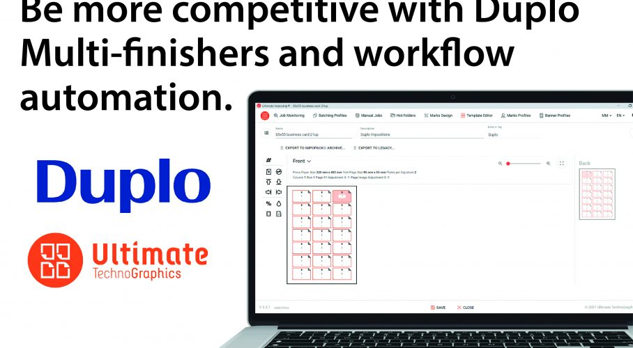 Ultimate TechnoGraphics - Become more competitive with Duplo Multi-finishers and workflow automation